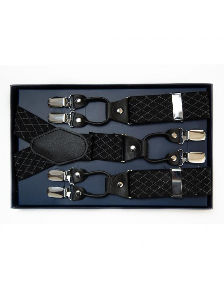 Bretele 01 negru carouri